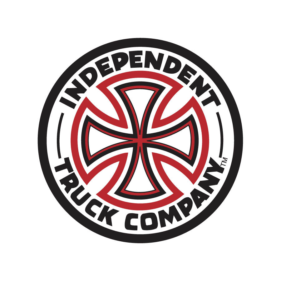 Independent Cross Vinyl Sticker - 7in - Red/White