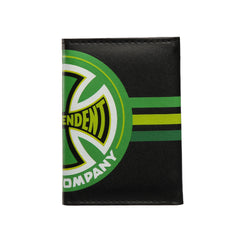 Independent Stripes T/C Tri-Fold Wallet - Black