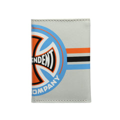 Independent Stripes T/C Tri-Fold Wallet - Grey
