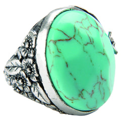 Lucky Large Stone Ring - Blue