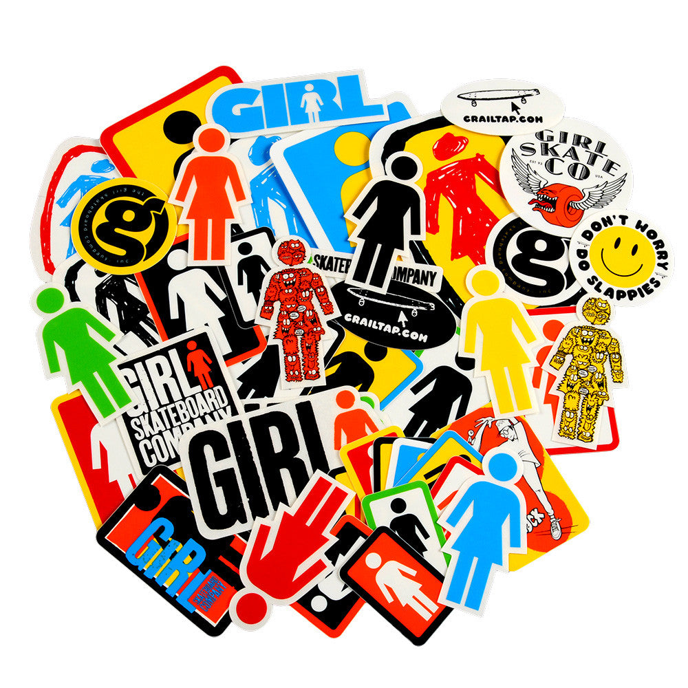Girl Assorted Logo 44 Pack Sticker - Assorted
