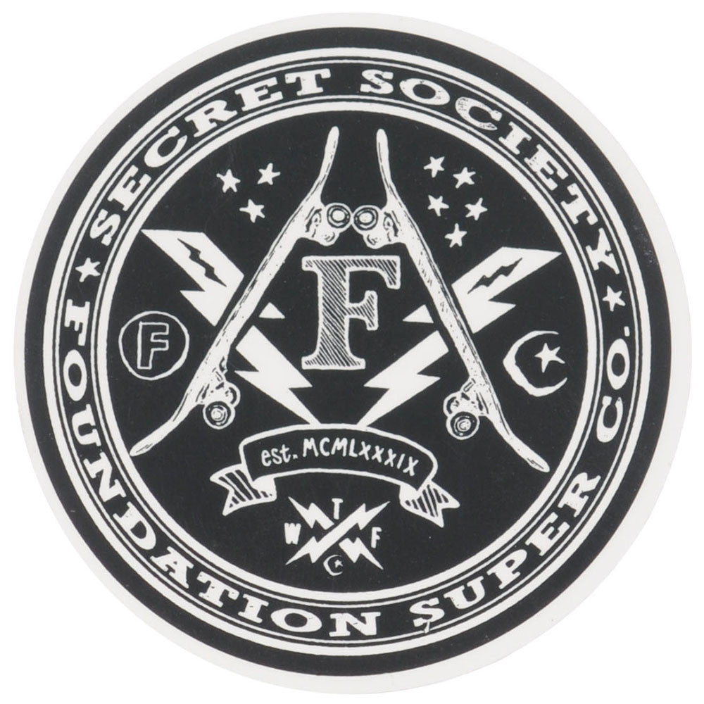 Foundation Secret Society Sticker - Black/White