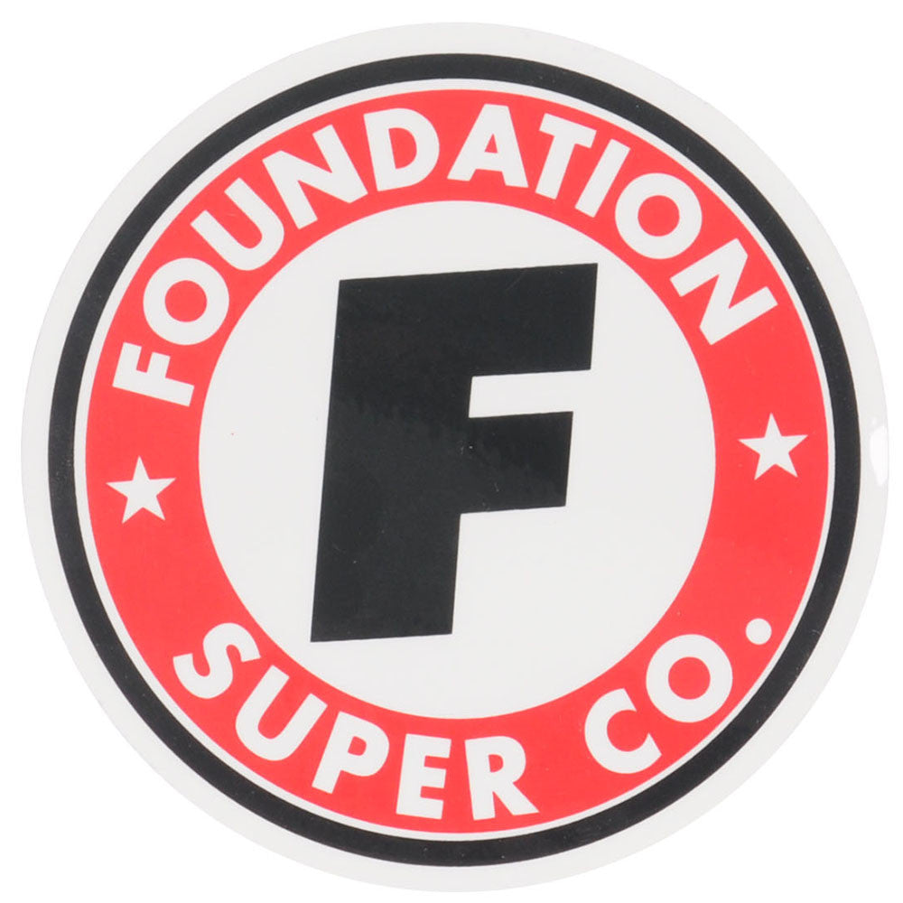 Foundation Super Company Sticker - Black/Red/White