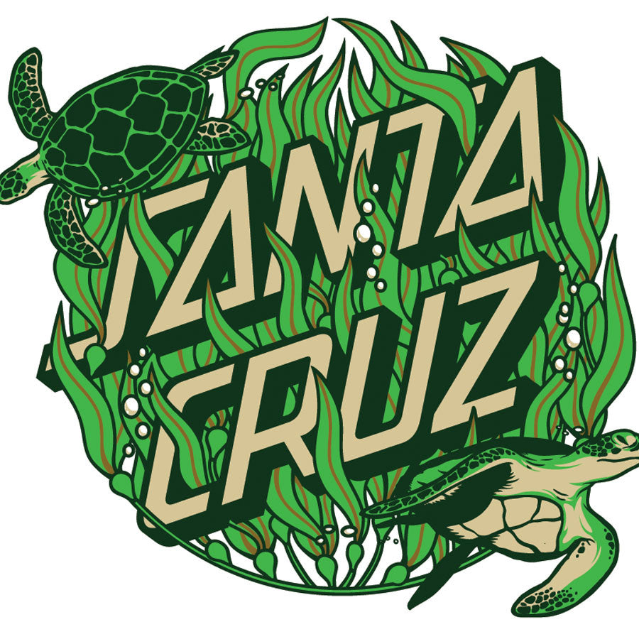 Santa Cruz Kelp Dot Sticker - 6in - Green