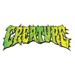 Creature Psych Clear Mylar Sticker - 7in x 3in - Green