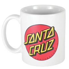 Santa Cruz Classic Dot 11oz Coffee Mug - White
