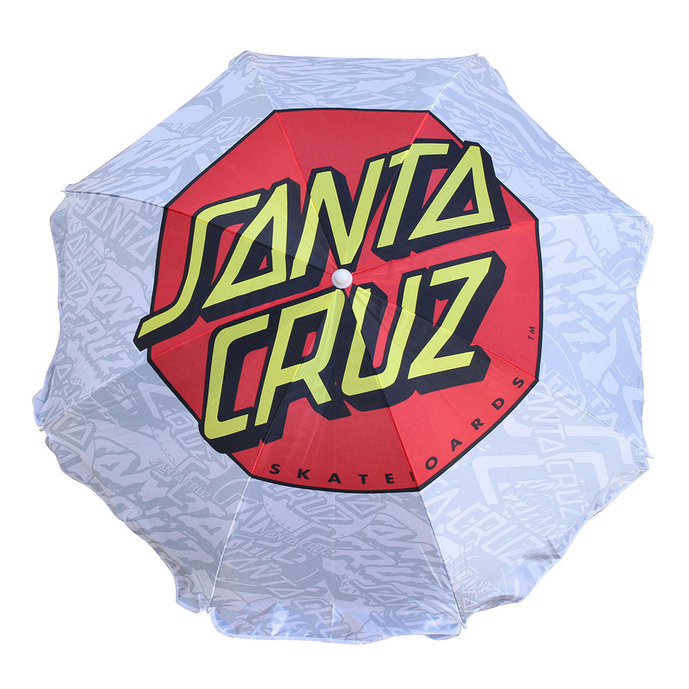 Santa Cruz Classic Dot Beach Umbrella - White