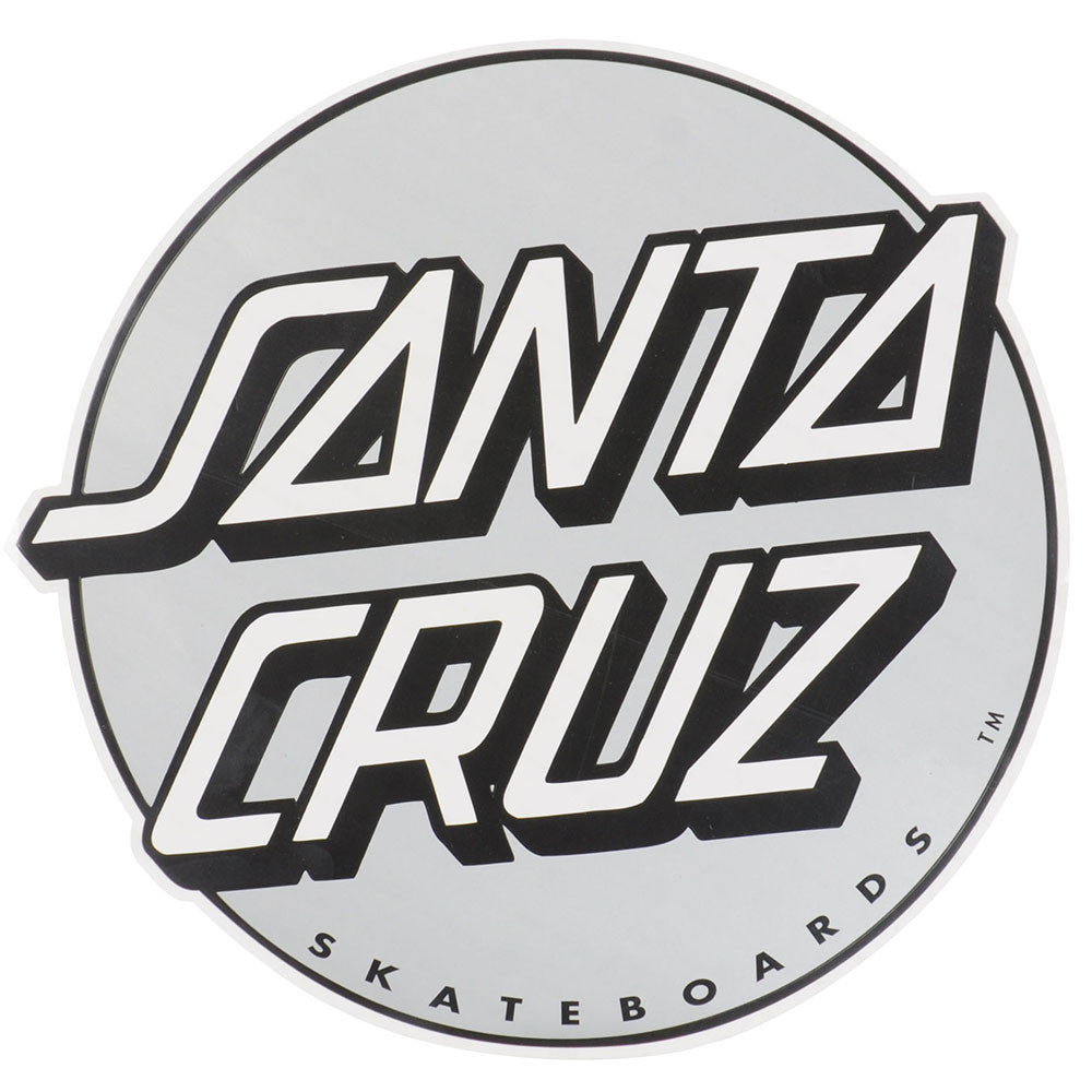 Santa Cruz Large Classic Dot Sticker - Black/Silver