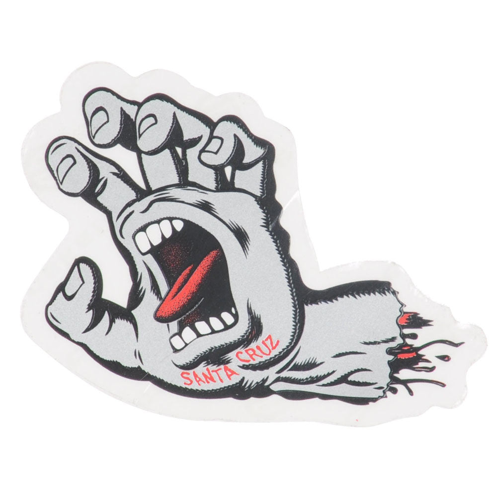 Santa Cruz Screaming Hand 3in. Sticker - Black/Silver