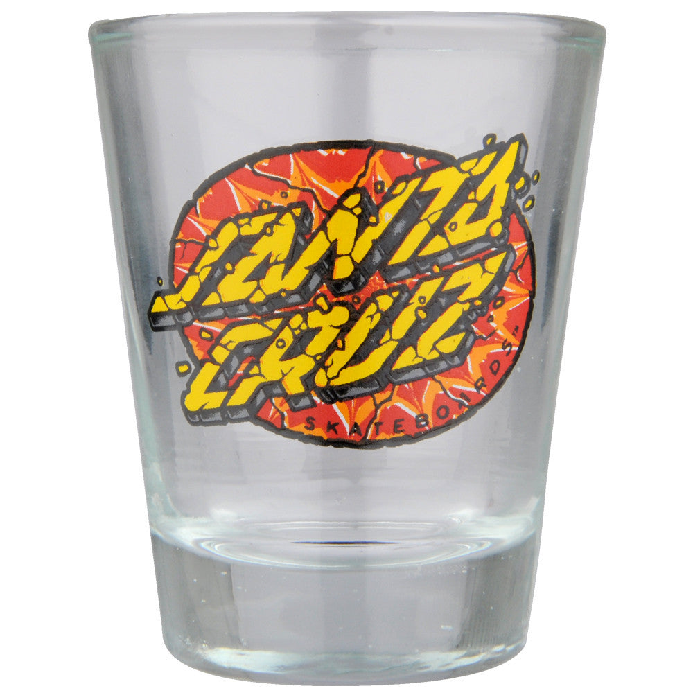 Santa Cruz Psychedelic Dot Shot Glass - Clear