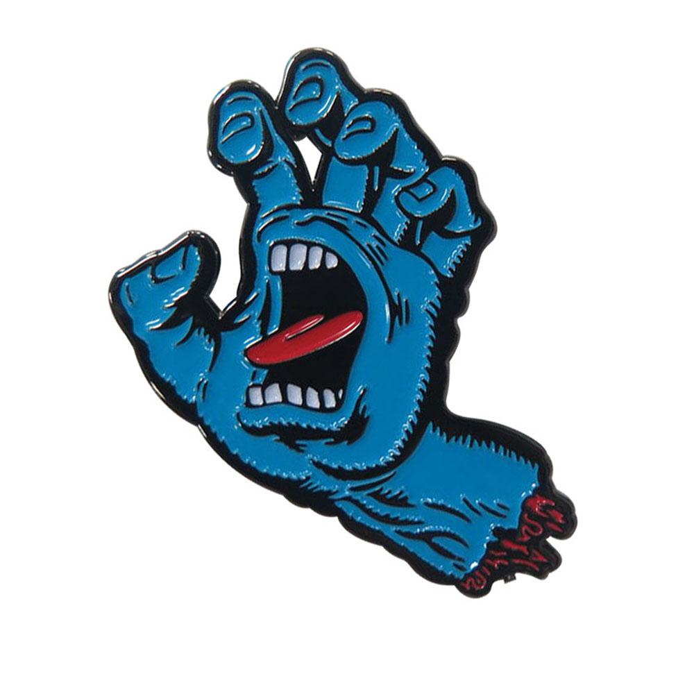 Santa Cruz Screaming Hand Push Back Pin - Blue