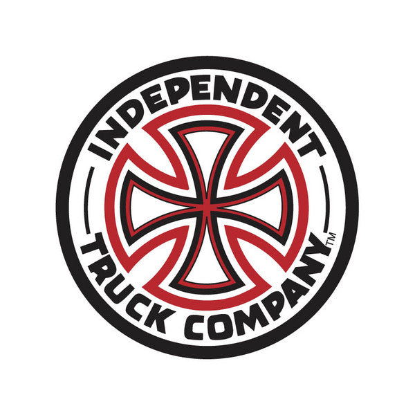 Independent Cross Sticker - 14in - Red/White