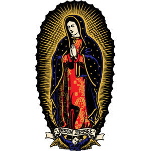 Santa Cruz Jessee Guadalupe Sticker -  6in - Multi