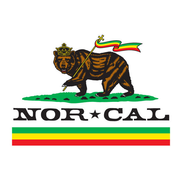 Nor Cal Rude Bear Decal - White - 5in - Sticker