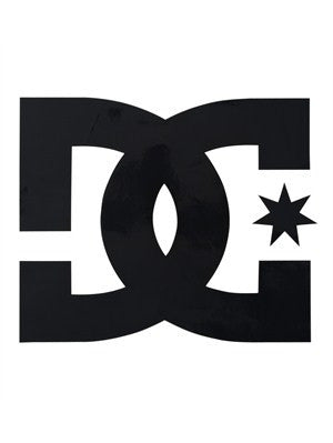 DC Star Vinyl Sticker - 4in - Black