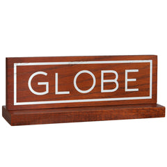 Globe Two Piece Sign Miscellaneous - Cabin Stain