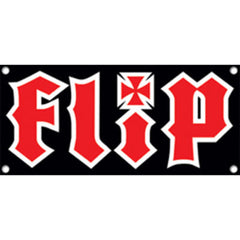 Flip HKD Logo Banner - 48in x 22in - Black/Red