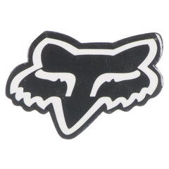 Fox Head 1in. Sticker - Black/White