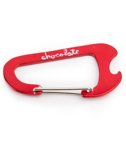 Chocolate Chunk Carabiner Keychain - Red
