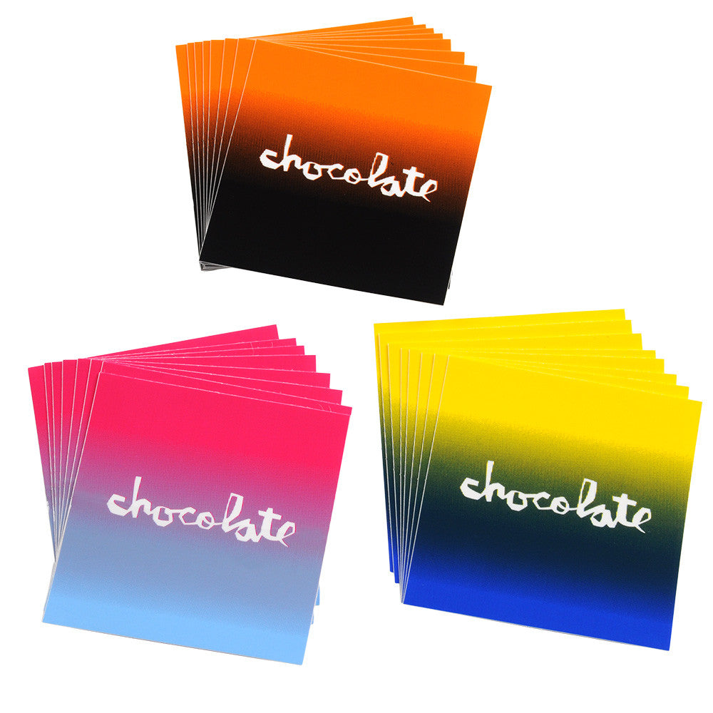 Chocolate Faded Square 24 Pack Stickers - Assorted