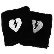 Mystery Heart Sweat Band - Black
