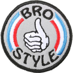Bro Style Patriot Patch - Grey