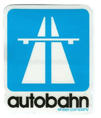 Autobahn Logo Sticker - Small - Blue