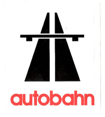 Autobahn Logo Sticker - Medium - White