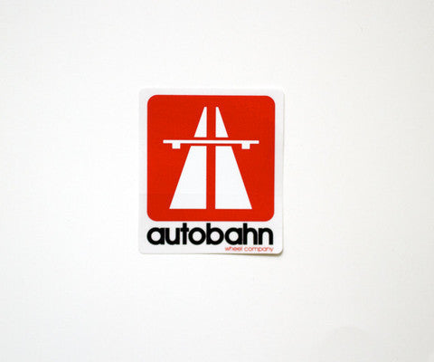 Autobahn Logo Sticker - Medium - Red