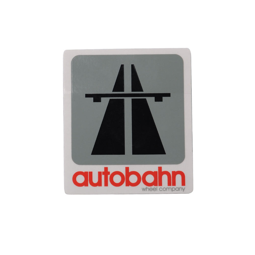 Autobahn Logo Sticker - Medium - Grey