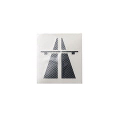 Autobahn Logo Sticker - Medium - Carbon Fiber