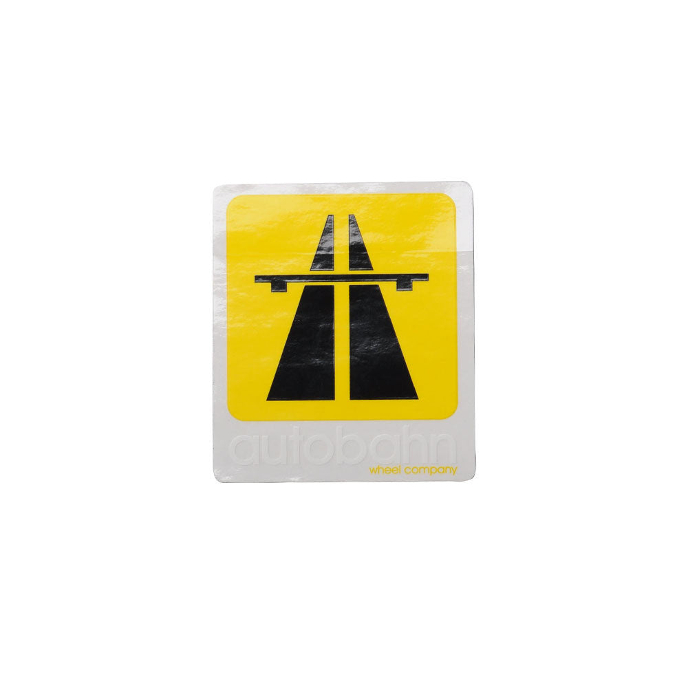 Autobahn Logo Sticker - Medium - Yellow