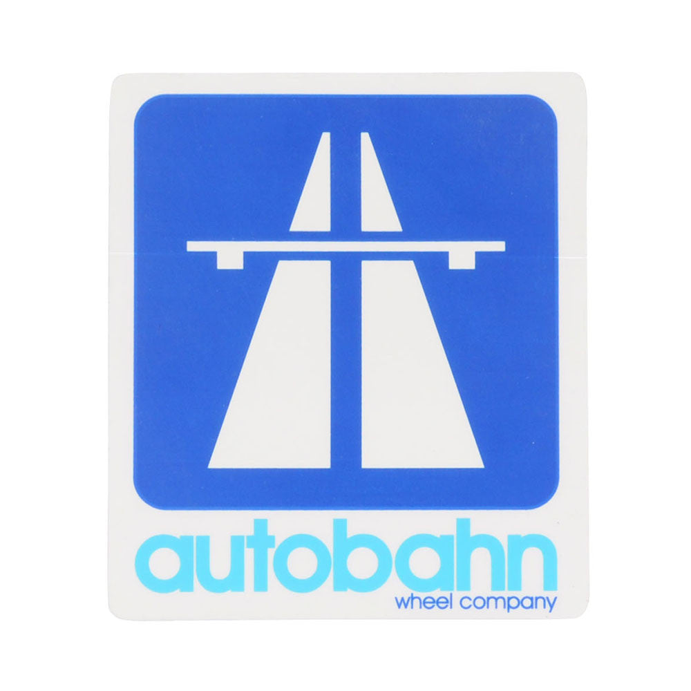 Autobahn Medium Logo Sticker - White/Navy/Blue