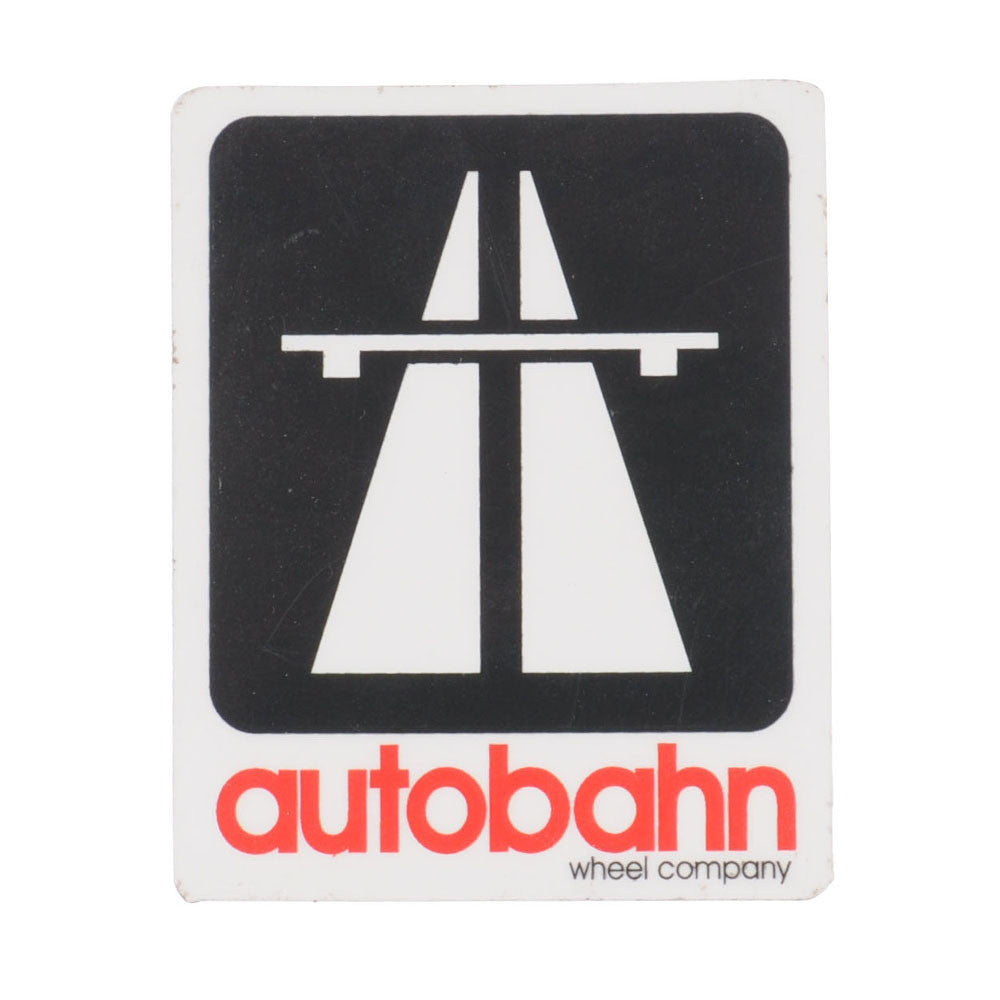 Autobahn Small Logo Sticker - Black/White/Red