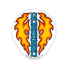 Bones Brigade Guerrero Dagger Sticker - Orange/Blue/White