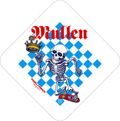 Bones Brigade Mullen Chess Sticker - White/Blue