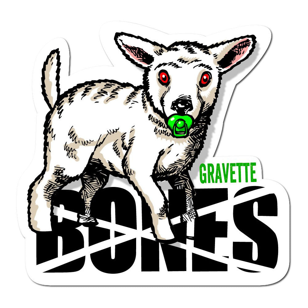 Bones Gravette Pacifier Sticker