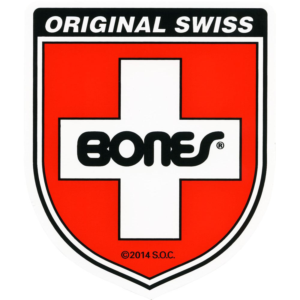 Bones Swiss Shield Medium Sticker