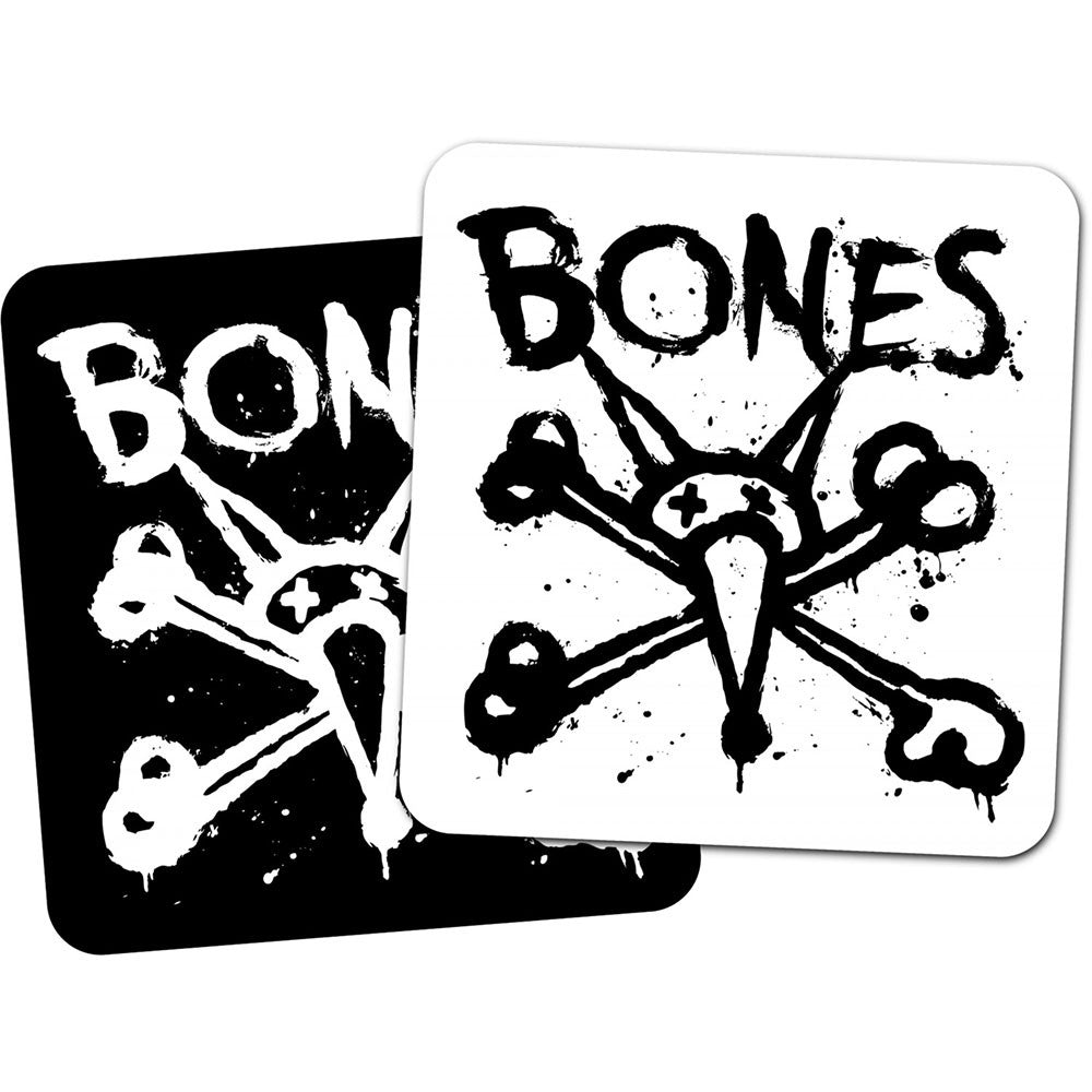 "Bones Vato Op Square 4"" Sticker - Black/White"