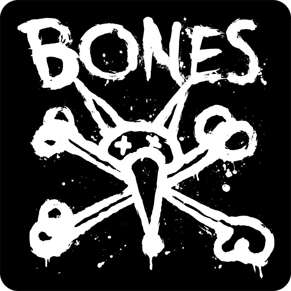 "Bones Vato Ramp 12"" Sticker - Black/White"