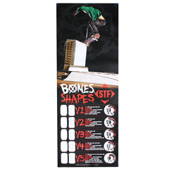 Bones Shapes Skate Poster - 56in x 21in