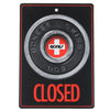 Bones Open & Closed Sign - Black/Red