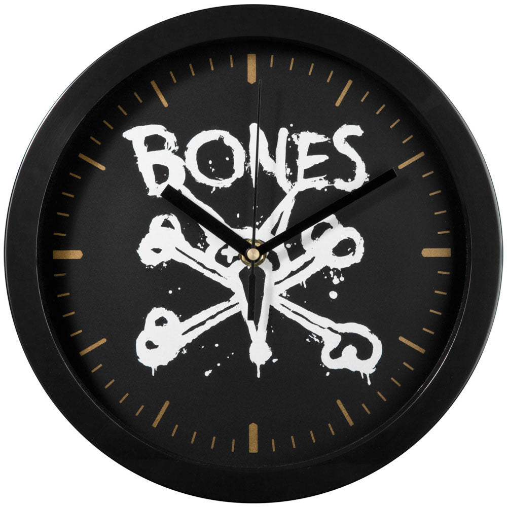 Bones Vato Wall Clock - Black/Gold
