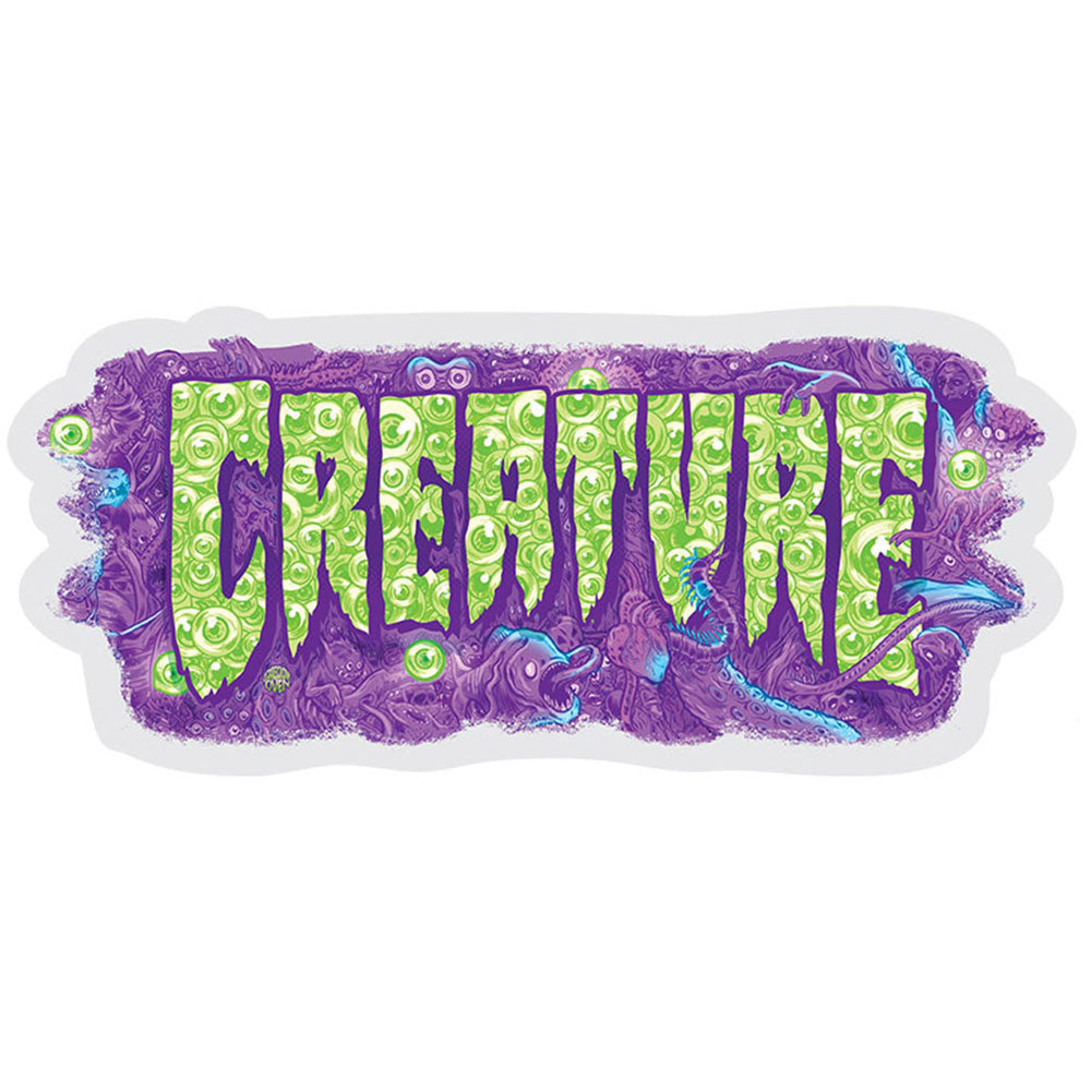 Creature Detox Decal - Purple/Green Sticker - 3in x 7in