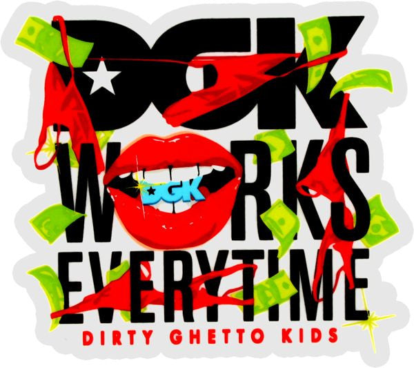 DGK Works Everytime Stickers - Multi