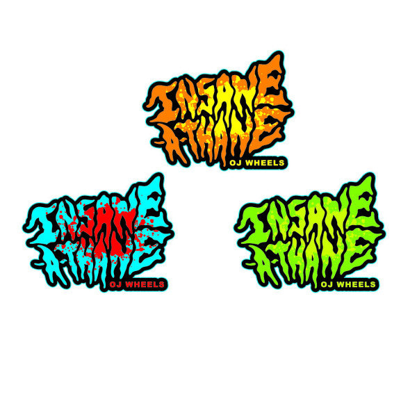 OJ Insane-a-thane Sticker in Vinyl - 2.5In.x 3In.