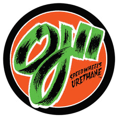 OJ 2 Speed Wheels Decal Sticker - Orange/Black - 3In. x 3In.