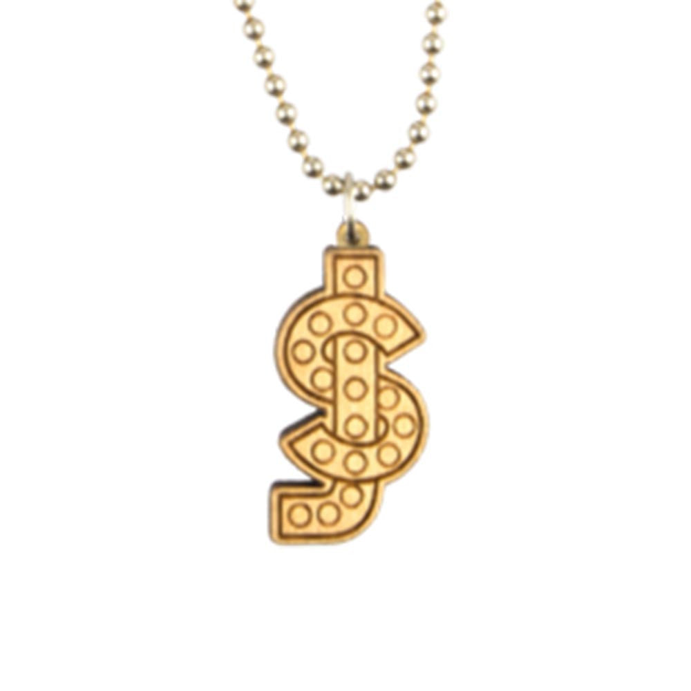 Shake Junt Good Wood Logo Necklace - Natural