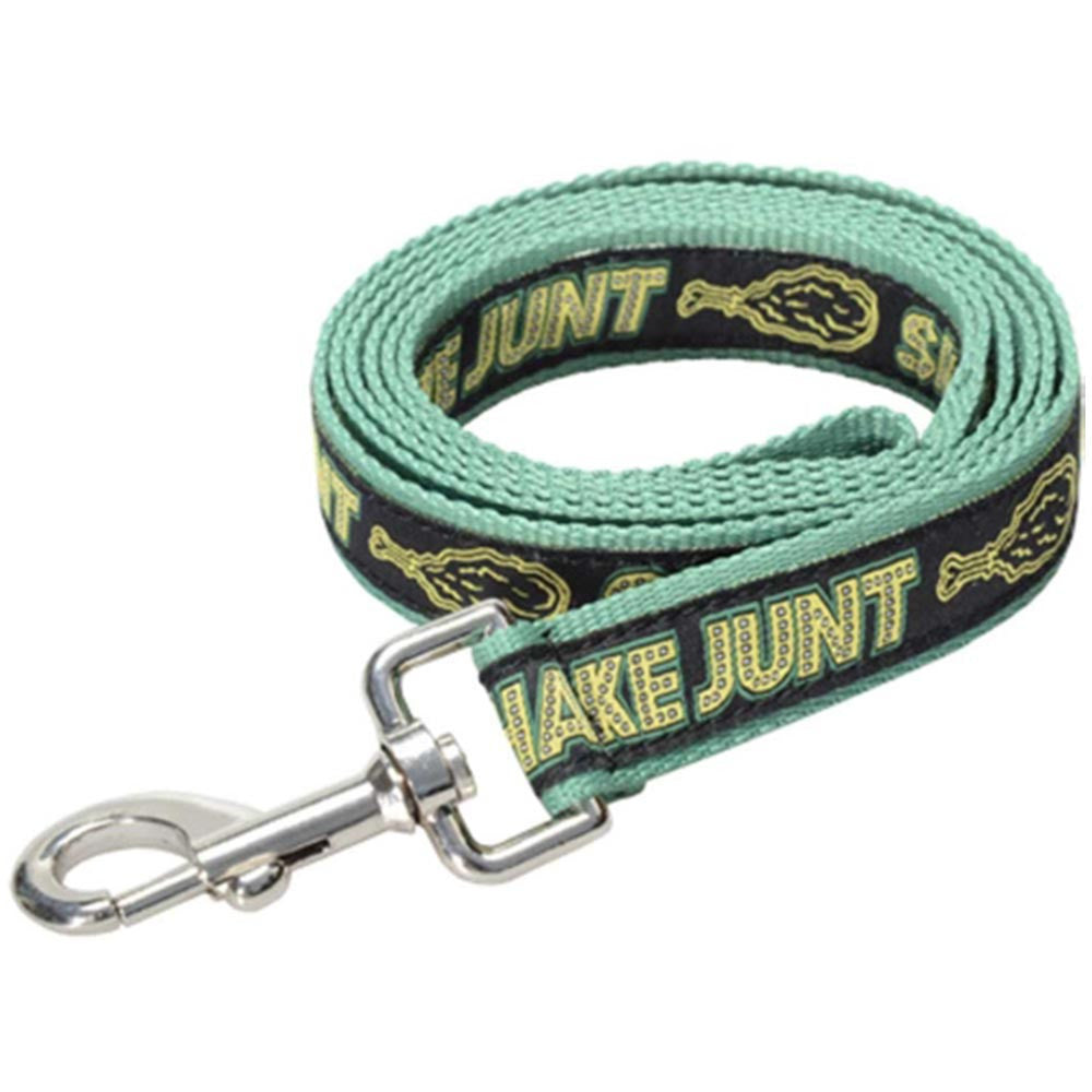 Shake Junt Stretch Logo Dog Leash - Black/Green