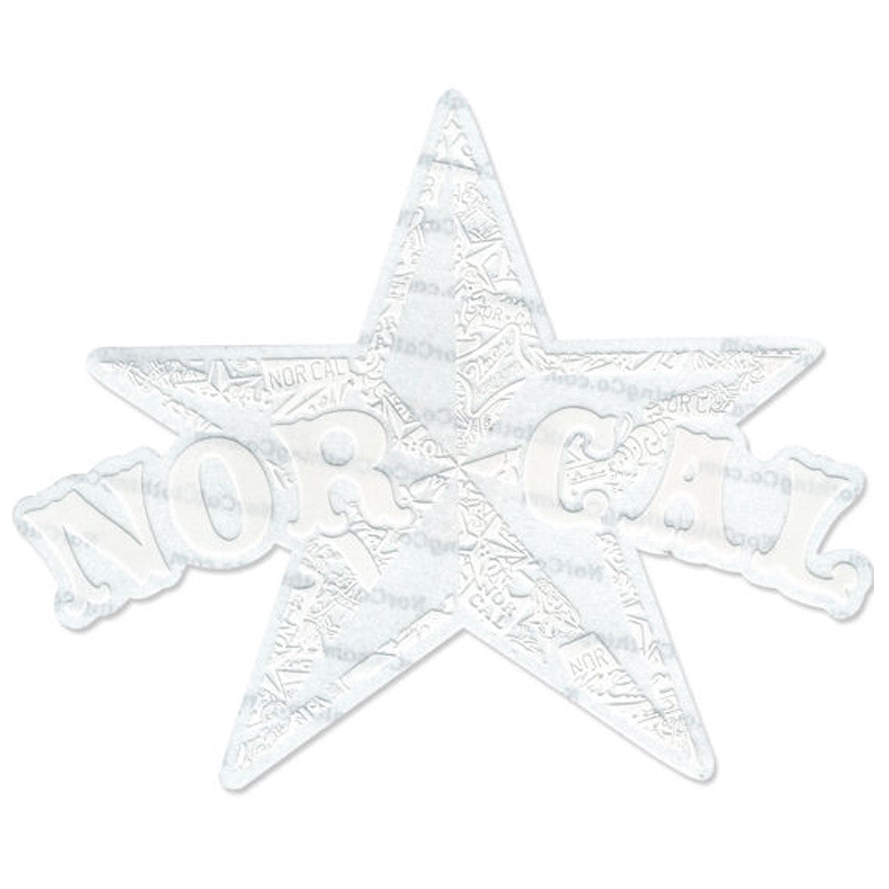 Nor-Cal Medium Star Decal Sticker - White